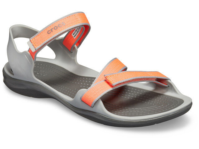 Crocs Swiftwater Sandały Kobiety, bright coral/light grey